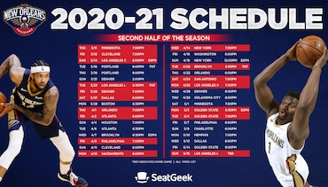 Pels announce second half schedule
